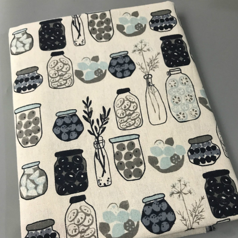 Meter Linen Cotton fabric printing Vintage Cotton Fabric for DIY Handmade Textile Sewing Patchwork For Bags tablecloth Material in Fabric from Home Garden