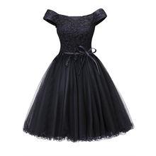 Dressv коктейльное платье с открытыми плечами черное без рукавов