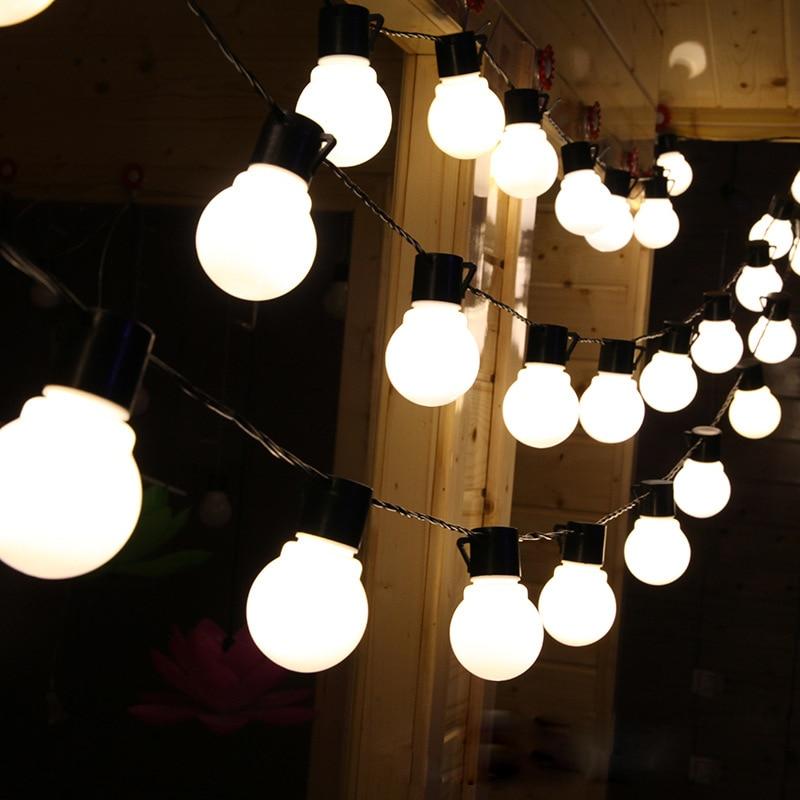 Neuheit Outdoor beleuchtung 2,5/5 mt LED Ball string lampen Schwarz ...