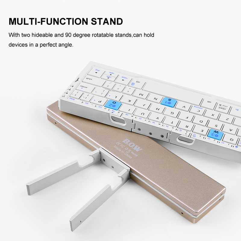 02c9a9e6c56 ... Ultra Slim Mini Foldable Bluetooth Keyboard For iPhone X 8 7 6S 6 Plus,  iPad Mini/Pro / Air, Samsung Smartphones, Black. Previous