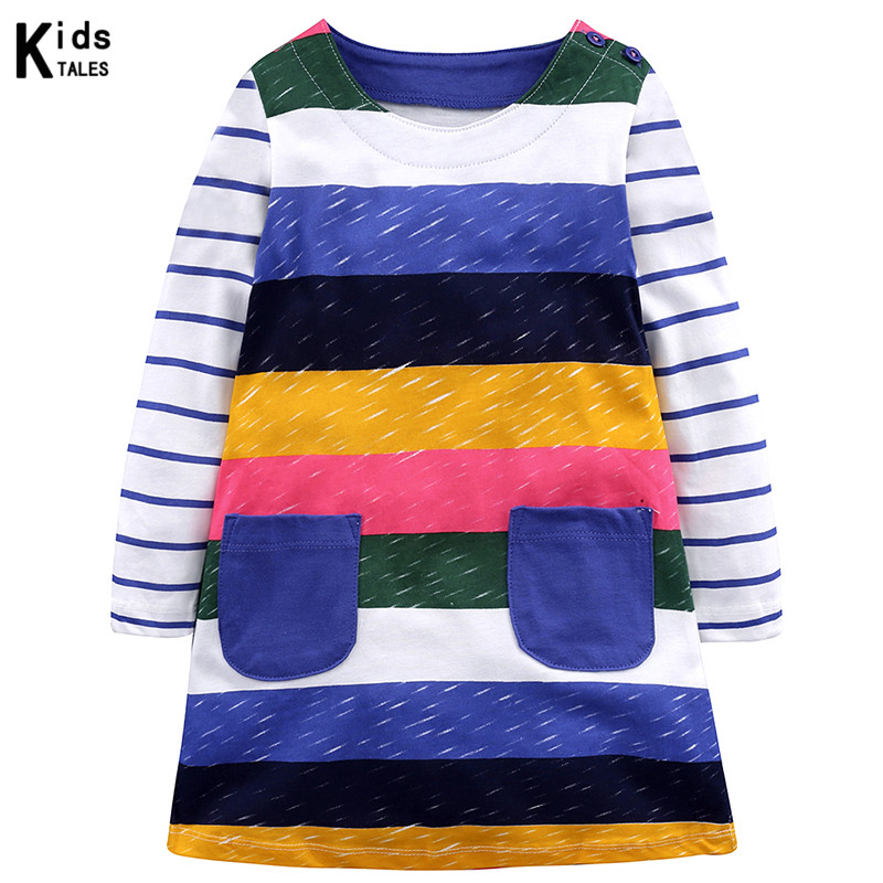 Dress for Little Girls 2019 Children 39 s Spring Autumn Dresses for 2 7Y Girls Shoes Rainbow Style Dress Princess Costumes in Dresses from Mother amp Kids