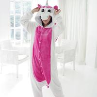 Adult Unisex Tenma Unicorn Fleece Pajamas Animal Cosplay Costume Onesie Sleepwear