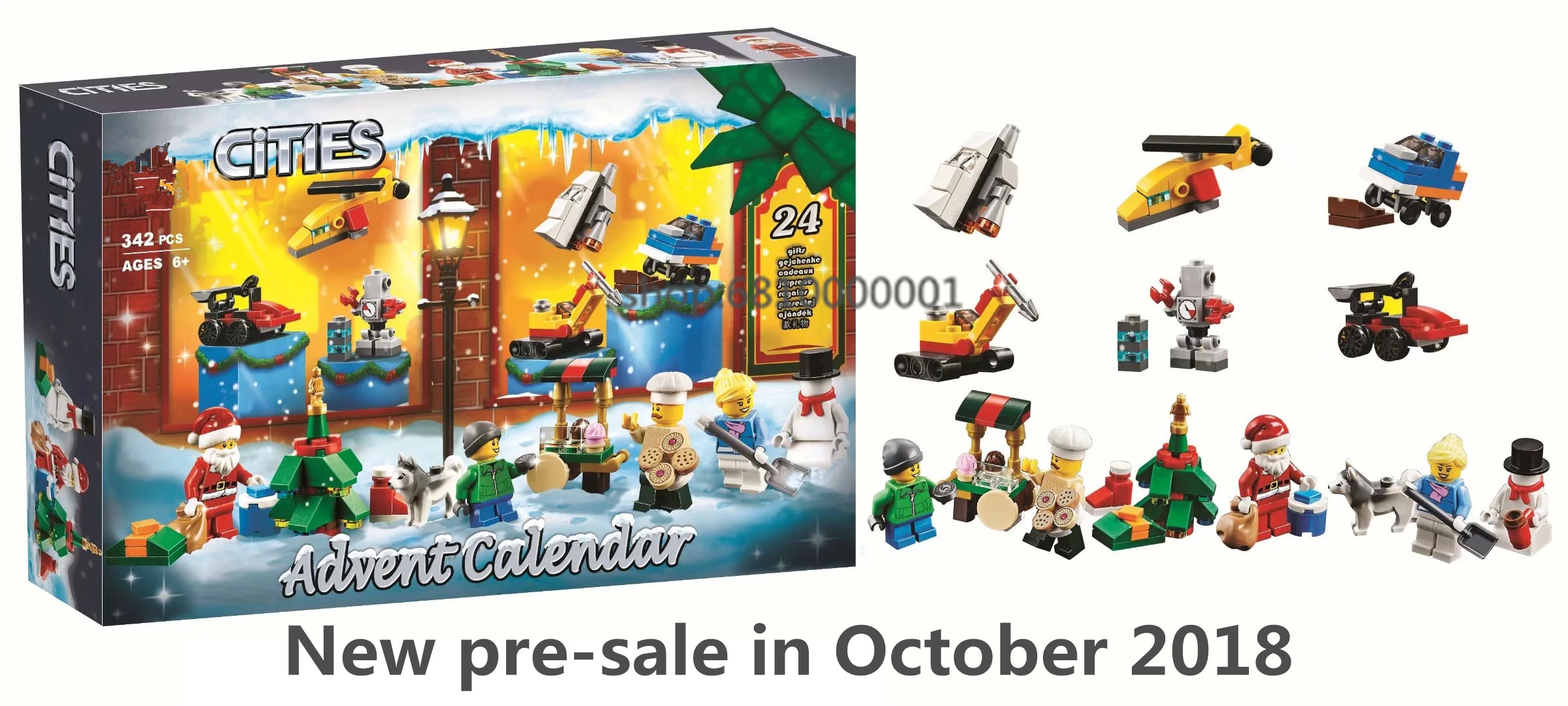 City Advent Calendar Santa\'s veterinary Shop Building Blocks Brick Compatible Legoingly kits Model Toy for child Christmas gift chuck whelon where s santa