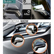 Tonlinker 2 PCS Car Styling ABS the rearview mirror strip Cover Case Stickers for Lexus RX200t NX200 300h 450h 2016 Accessories