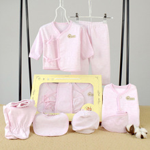 hot deal buy 7 piece newborn baby set boy clothes 100% cotton infant suit baby girl clothes outfits pants baby clothing hat bib ropa de bebe