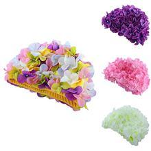 Mulheres Flores Coloful Touca de Natação Piscina Bonita Hat Tamanho Livre  Mulheres Cap Touca de Natação 6bd90f99551