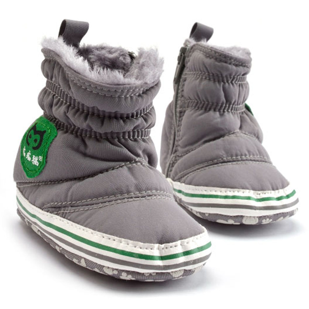 Обувь для младенцев Обувь для девочек Обувь для мальчиков зимние ботинки младенческой Твердые обувь с бантами Prewalker хлопчатобумажной ткани...
