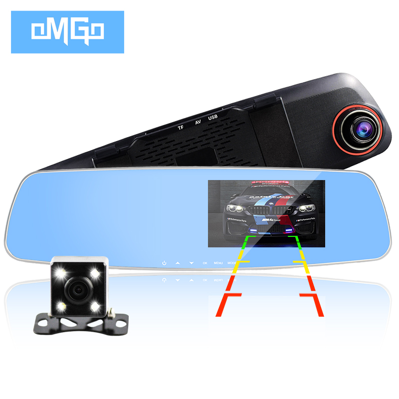 dual lens car camera cars dvr rearview mirror auto dvrs recorder video registrator full hd1080p night