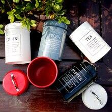 Металлическая красочная банка для хранения, Классическая Минималистичная Скандинавская настольная бутылка для хранения, Домашний Органайзер, контейнер для кофе, сахара, чая