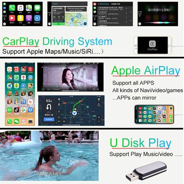 2018 New IOS Car Apple Airplay Android Auto CarPlay Box For Benz A B C CLA  GLA GLC GLE Class 15-17 NTG 5 0 OS System