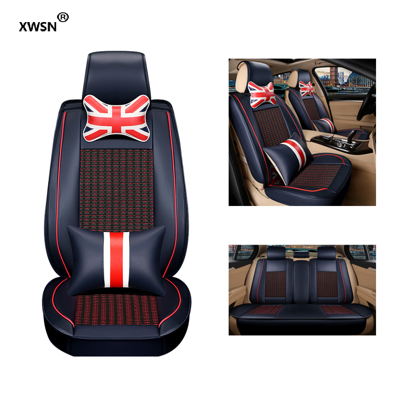 XWSN Lce silk car seat cover for Cadillac SLS ATSL CTS XTS SRX CT6 ATS Escalade car accessories auto styling car sticker