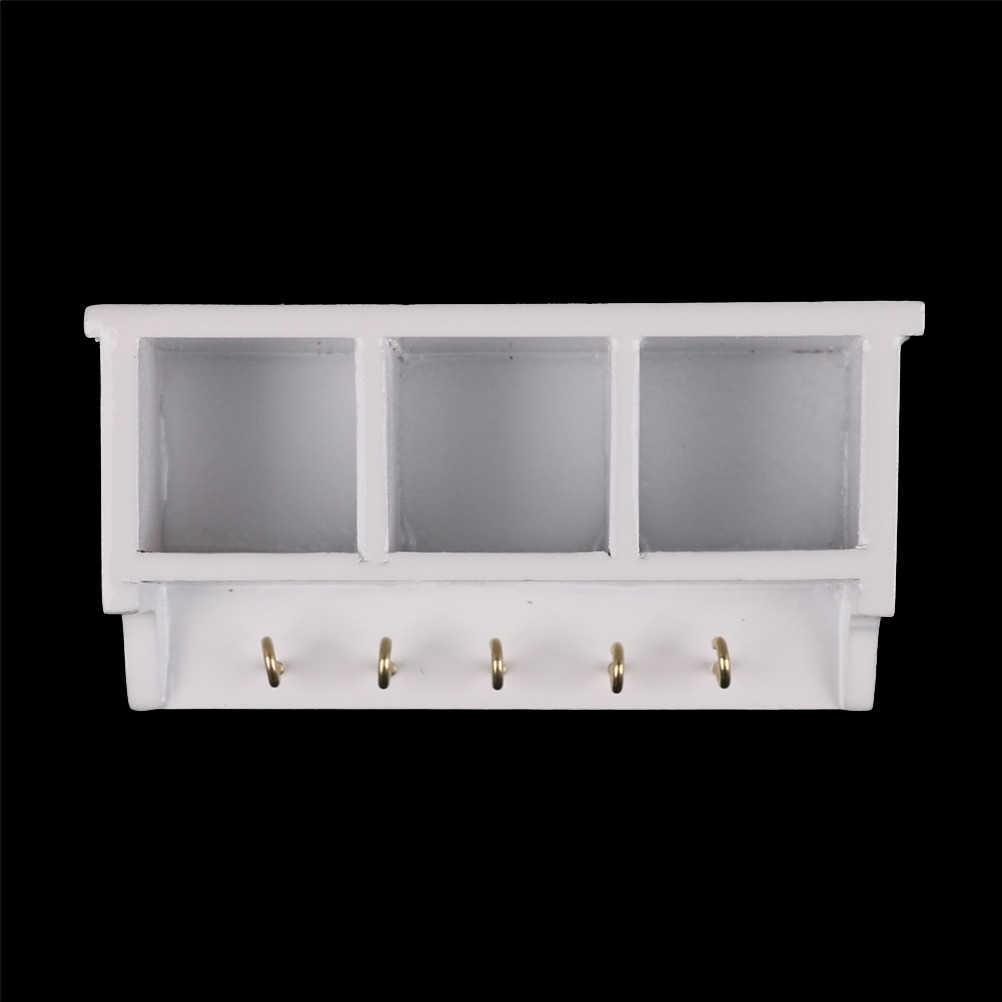 1/12 Dollhouse Miniature Keuken Studeerkamer Badkamer Commodity Plank/Rack Nuttig Multifunctionele # WL057