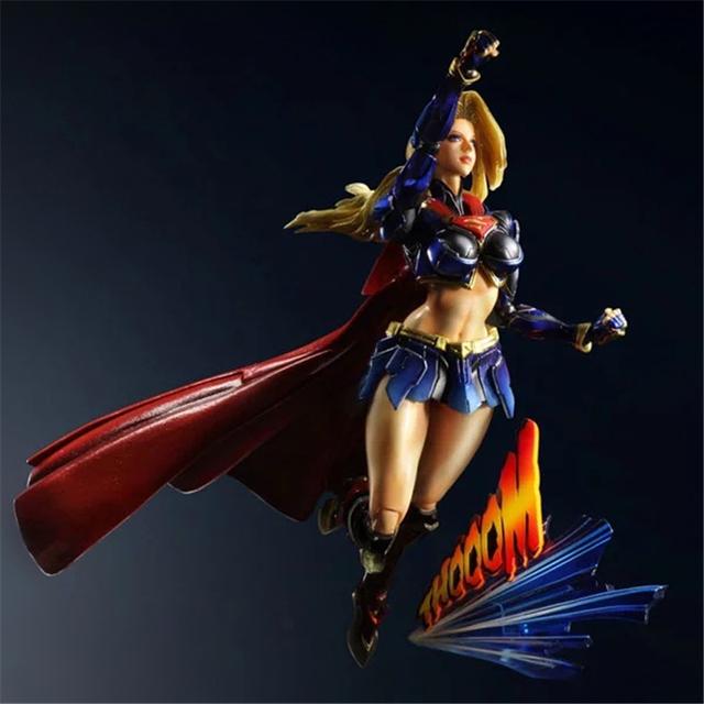 Justice League Supergirl 27cm PVC Action Figure Collectible Model Toy