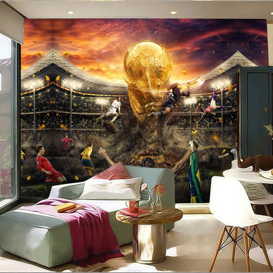 Custom Size Photo Football Basketball Wallpaper Restaurant Bar Ktv Cafe Living Room Bedroom Background Sports Mural In Wallpapers From Home