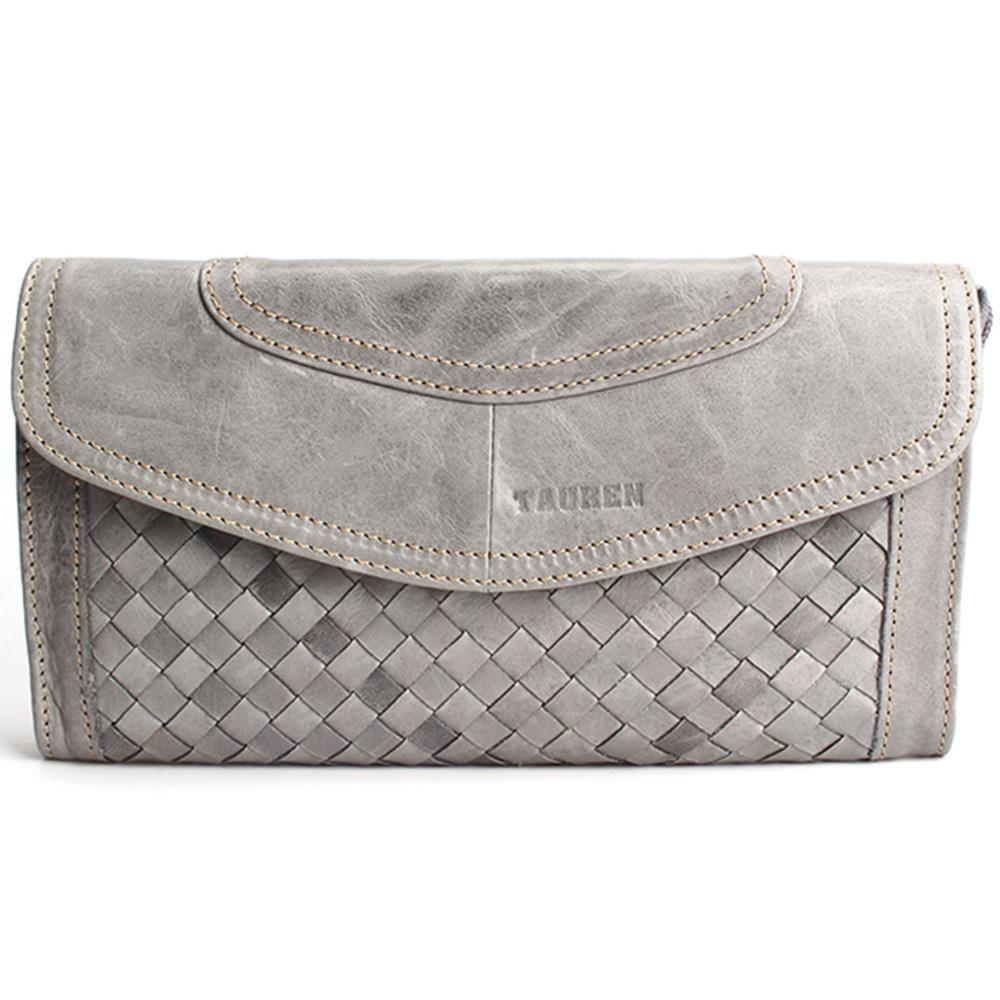 ФОТО High-Class Vintage Weave Sytle Clutch With Shoulder Belt For Women Retro Leather Oil Waxing Wallet Ms. Genuine Bag