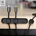 Baseus Magnetic protector Cable Clip Desktop Tidy Cable Organizer USB Charger Cable Holder Car Charging Magnetic Cable protector