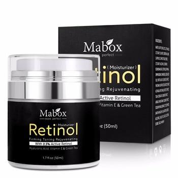 Mabox 50ml Retinol 2.5%Moisturizer Face Cream Hyaluronic Acid AntiAging Remove Wrinkle Vitamin E Collagen Smooth Whitening Cream 1