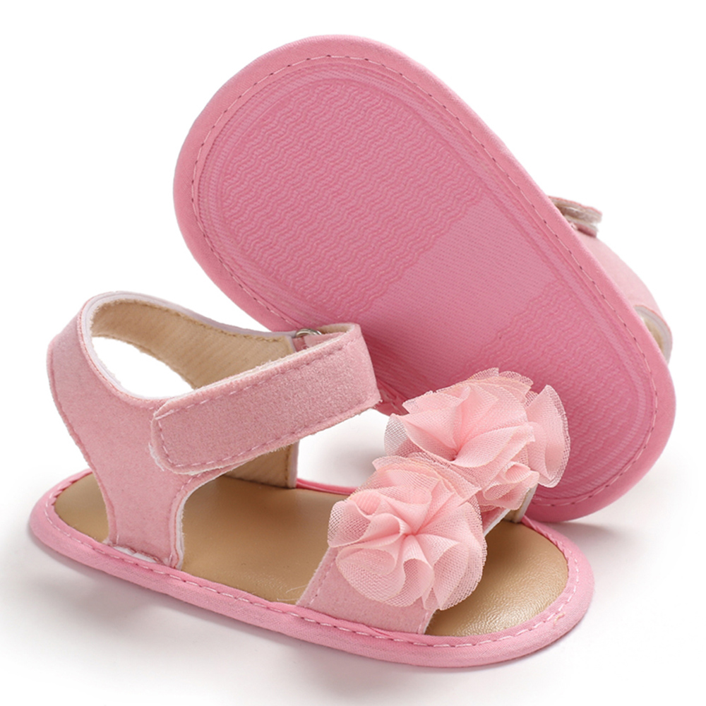 2019 Summer Sandals Kids Baby Girl Cute Lace Flower Anti-slip Pram Crib Shoes Garden Princess Breathable Wedding Shoes Hot D40