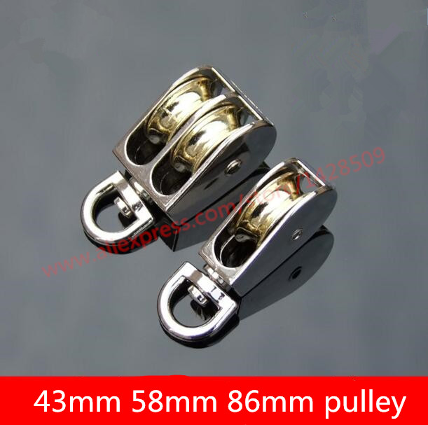 High Quantity mini fall block Zinc alloy Swivel Pulley movable pulley for movable pulley