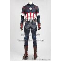 Мстители эра Альтрона Капитан Америка Косплэй костюм Капитан Америка Стив Роджерс наряды форма полный набор платье Быстрая доставка