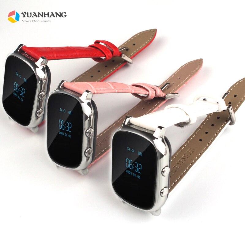 T58 inteligente gps wifi rastreador localizador anti-perdido relógio crianças mais velho criança chamada sos monitor remoto pulseira de couro genuíno smartwatch