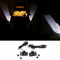 Newest Car Welcome Lights Angel Wings Spotlight Universal Fit Car Door Projector Light Ghost Shadow Puddle