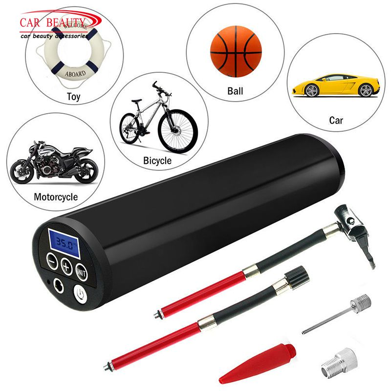 120 PSI Mini Electric Digital Tire Inflator for Car Motorcycle Bike Portable Outdoor Wireless Air Compressor Travel Tyre Pump