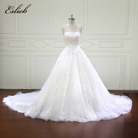 Amazing Empire Style High end Wedding Dress Unique Lace Strapless Off the Shoulder Royal Train Sequined Bridal Gown Custom Size