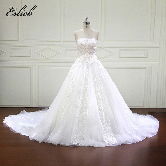 Amazing Empire Style High end Wedding Dress Unique Lace Strapless ...