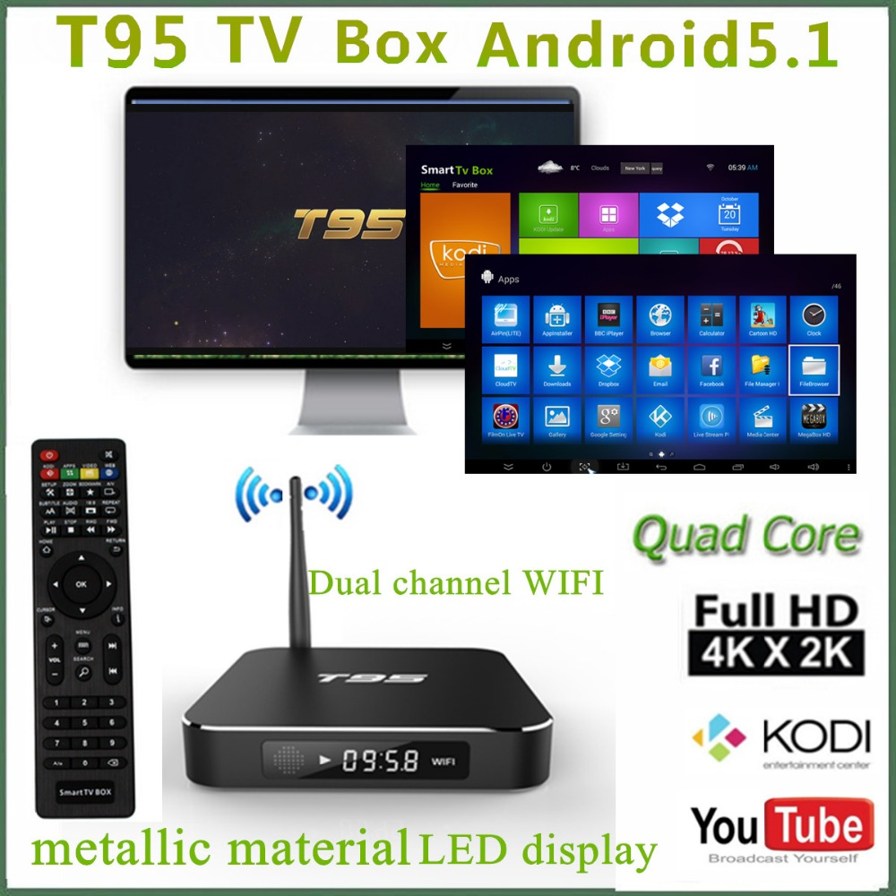 t95 tv box smart tv box android 5 1 3d quad core tv. Black Bedroom Furniture Sets. Home Design Ideas