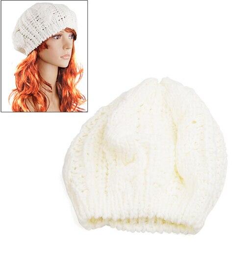 Mypf 2017 nueva moda mujer señora Beret trenzado baggy Beanie crochet  caliente sombrero de invierno skullies gorra de lana de punto al por mayor b0d2beef7ca