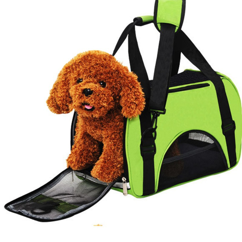 Outdoor Pet Travel Bag Large Pet Carrier Soft Oxford Dog Shoulder bags Colorful Cat Dog Carrier Handbag S/M/L Size Easy Carry