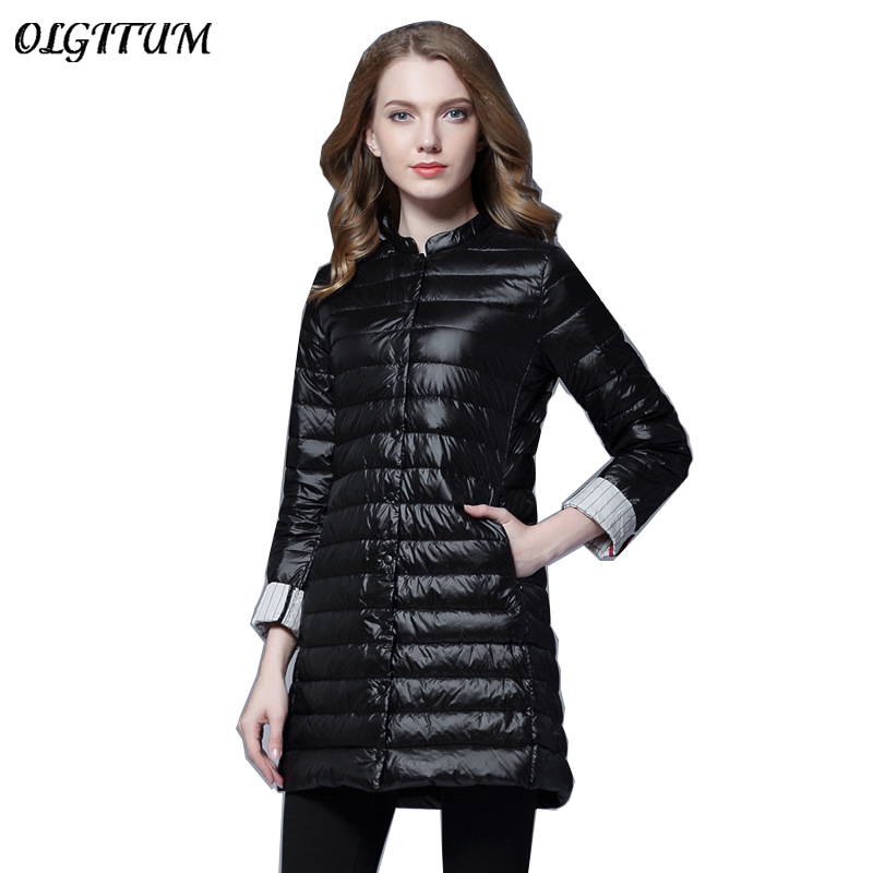 2019 Women Spring Padded Warm Soft Coat Ultra Light Duck Down Female Coat Overcoat Slim Solid Jackets Winter Portable   Parkas