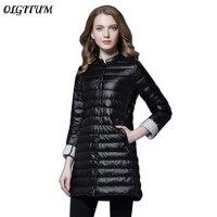 2019 Women Spring Padded Warm Soft Coat Ultra Light Duck Down Female Coat Overcoat Slim Solid Jackets Winter Portable Parkas