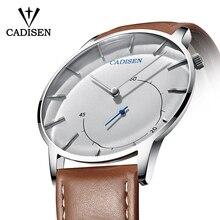 Cadisen ультра тонкие мужские часы relogio masculino повседневные Модные кварцевые часы водостойкие спортивные наручные часы роскошные кожаные часы мужские