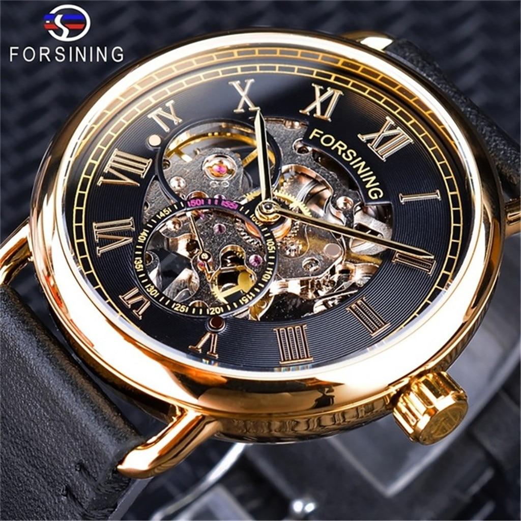 automatic mechanical watch men business waterproof Hollow Dial Luxury Design Business Fashion Men's Mechanical Watch #4
