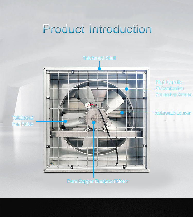 US $72 0 10% OFF|Industrial Exhaust Fan High Power Extractor Ventilation  Machine Factory Vent Fan Strong Air Rate Lower Energy Exhaust Fan FB 380-in