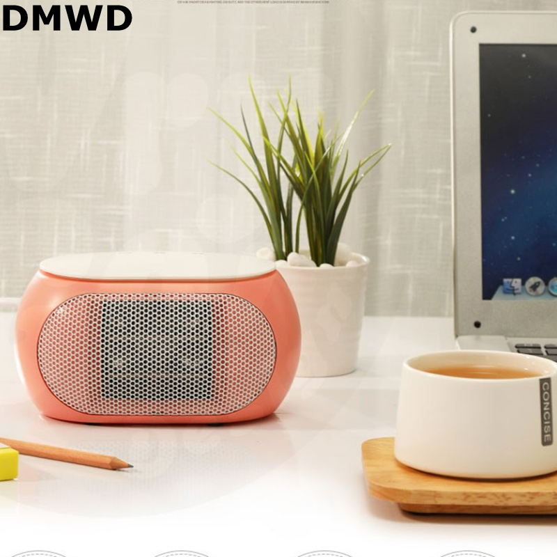 DMWD 450W/220V Mini Electrical Heater Mechanical Type Touch Screen Type Portable Fan Heater PTC Ceramics Fast Heat Technology ...