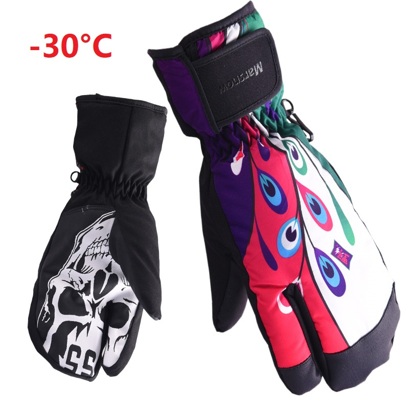 Professional Ski Gloves For Women Men Non-slip Snowboard Glove Snowmobile Motorcycle Riding Winter Gloves Windproof Waterproof