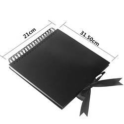 31.5 x 21 cm 40 Pcs / 80 Pages Black Paper Scrapbook Wedding Guest Book DIY Anniversary Travel Memory Scrapbooking Photo Album