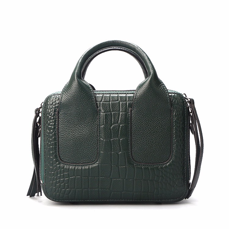 Qiwang Nice Box Bags Luxury Fashion Women Lay Bag 17 Italian Crocodile Handbags Purse Leather Lady Hand Collection Bag 12