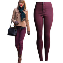 Women Skinny Pencil Jeans Nice Denim Elastic Pants Candy Color Good Quality High Waisted Jeans Slim Pants Leggings Femme Capris