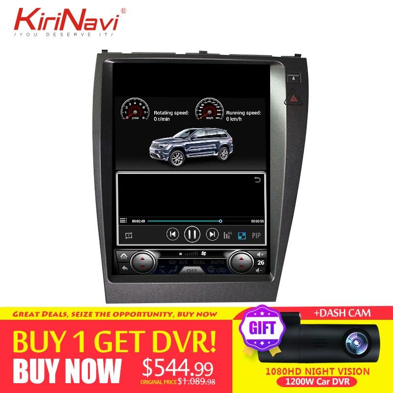 KiriNavi de pantalla Vertical Tesla estilo Android 7,1 de 12,1 pulgadas de la Radio del coche de navegación GPS para Lexus ES ES240 ES350 2006- 2012
