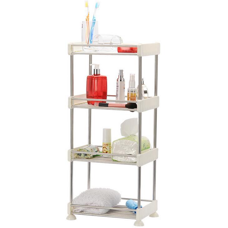 Detachable Layers Storage Holders Bathroom Shower Shelf Kitchen Sundries Plastic Alloy Rack Floor Type Organizer In Racks