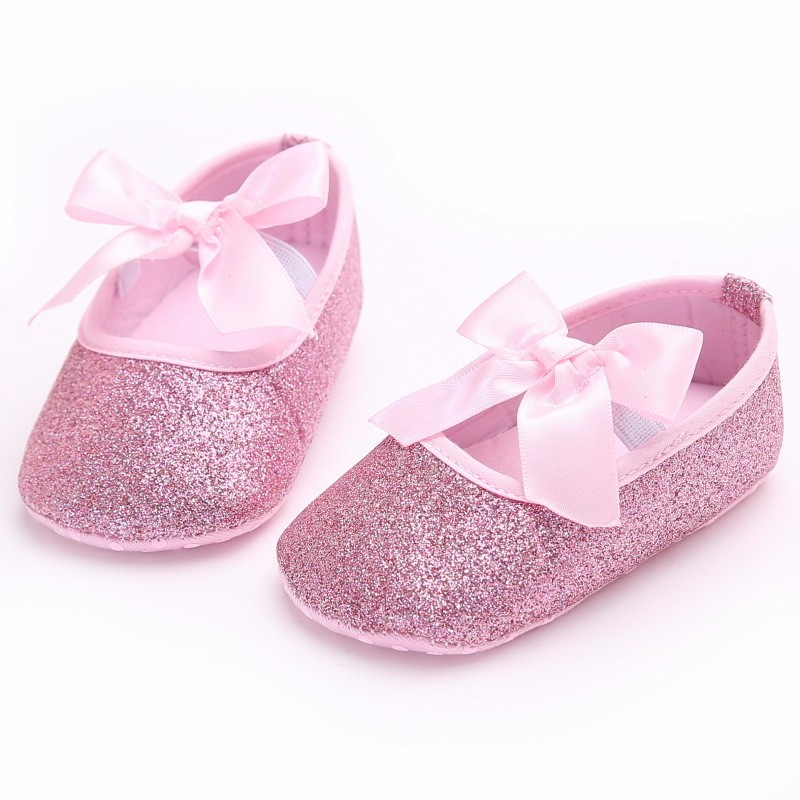 Baby Mary Jane Shoes for Girl Princess Infant Toddler Ballet Dress First Walkers Crib Shoes