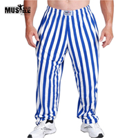 Brand Mens Bodybuilding Baggy Pants Casual Joggers Cotton Trousers Professional Bodybuilding Sweatpants