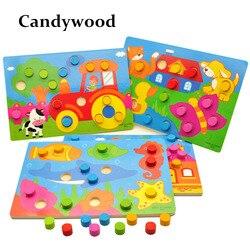 Деревянные Игрушки Tangram/Пазлы, Детские Обучающие Игрушки для раннего развития