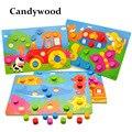 Tangram de madera/tarjeta rompecabezas de dibujos animados rompecabezas juguetes de madera rompecabezas niños educación temprana juguetes educativos para niños