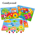 Wooden Toys Tangram/Jigsaw Board Cartoon Puzzle Jigsaw Kids Early Learning educational Toys for children