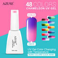 Azure Chameleon temperature change nail color uv gel nail polish Lacquer 12ml Long-lasting Soak off gel polish for Nail Gel